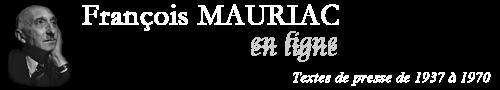 Mauriac en ligne